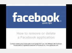 How to remove or delete a Facebook application or app