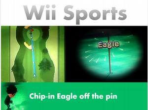 Wii Golf - Chip-in Eagle on Hole 1