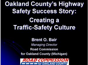 The Road Commission for Oakland County's Highway Safety Success Story