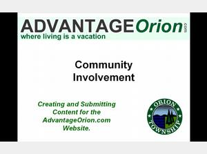 Creating and Submitting Content for AdvantageOrion.com