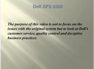Dell Computer XPS 8300- Deceptive Business Practices